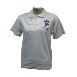 Trident High School Polo Shirt White